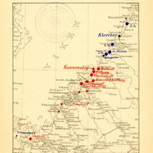 eräs kartta suomen sodasta lokakuun lopulta 1808